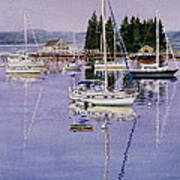Boothbay Harbor Print by Karol Wyckoff