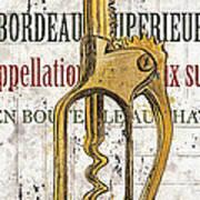 Bordeaux Blanc 2 Print by Debbie DeWitt