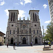 Cathedral Of San Fernando Print by Karen Cowled