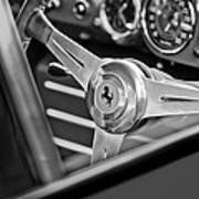 Ferrari Steering Wheel Print by Jill Reger