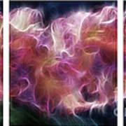 Gladiola Nebula Triptych Print by Peter Piatt