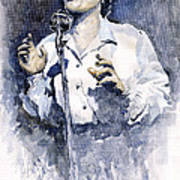 Jazz Billie Holiday Lady Sings The Blues  Print by Yuriy  Shevchuk
