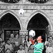 Juggler In Epcot Center Print by Jim Hughes