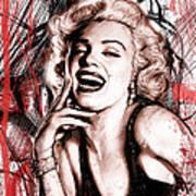 Marilyn Monroe Art Long Drawing Sketch Poster Print by Kim Wang