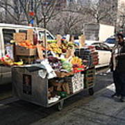 New York Street Vendor Print by Frank Romeo