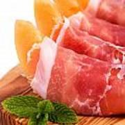 Parma Ham And Melon Print by Jane Rix