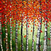 Rich Trees Print by Denisa Laura Doltu