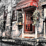 Ristorante On The Canal Print by Greg Sharpe