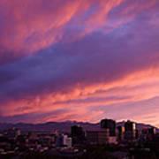 Salt Lake City Sunset Print by Rona Black