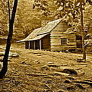 Smoky Mountain Cabin Print by Frozen in Time Fine Art Photography