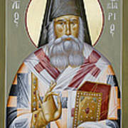 St Nektarios Of Aegina Print by Julia Bridget Hayes