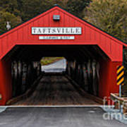Taftsville Covered Bridge Vermont Print by Edward Fielding