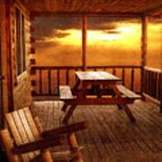 The Cabin Print by Joann Vitali