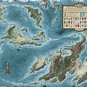 The Known World Of Skenth Print by Pieter Talens
