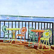The Terrace View Print by Thomas Kuchenbecker