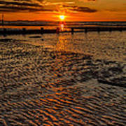 Welsh Sunset Print by Adrian Evans