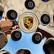 2010 Porsche Panamera Turbo Wheel Print by Jill Reger