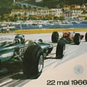 24th Monaco Grand Prix 1966 Print by Georgia Fowler
