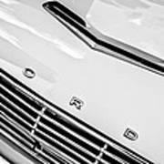 1963 Ford Falcon Futura Convertible Hood Emblem Print by Jill Reger