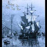 Blame It On The Rum Schooner Print by John Stephens
