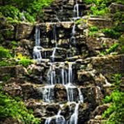 Cascading Waterfall Print by Elena Elisseeva