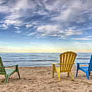 3 Chairs Print by Scott Norris