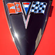 Chevrolet Corvette Hood Emblem Print by Jill Reger