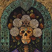 Dia De Muertos Madonna Print by Ricardo Chavez-Mendez