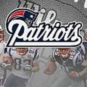 New England Patriots Print by Joe Hamilton