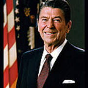 President Ronald Reagan Print by Official White House Photograph