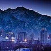 Salt Lake City Utah Skyline Print by Utah Images