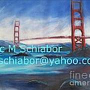 San Francisco Golden Gate Bridge Print by Eric  Schiabor