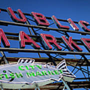 Seattle Market Sign Print by Brian Jannsen