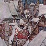 'the Night Before Christmas Print by Arthur Rackham