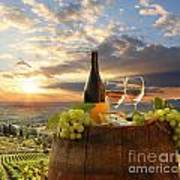 Vine Landscape In Chianti Italy Print by Tomas Marek