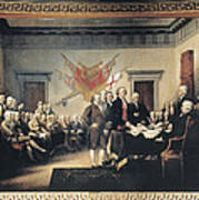 Declaration Of Independence Print by Granger