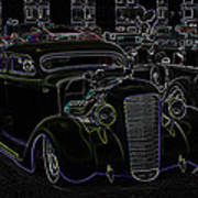35 Ford Coupe Neon Glow Print by Steve McKinzie