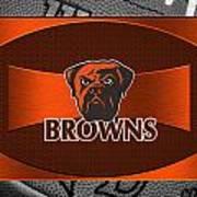 Cleveland Browns Print by Joe Hamilton