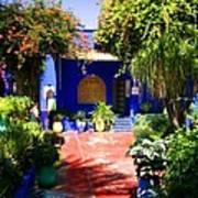 Majorelle Garden Marrakesh Morocco Print by Ralph A  Ledergerber-Photography