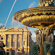 Paris Fountain Print by Brian Jannsen