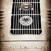 1960 Volkswagen Vw Porsche 356 Carrera Gs Gt Replica Emblem Print by Jill Reger