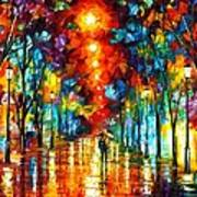 Night Park Print by Leonid Afremov