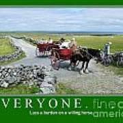 Old Irish Saying's Print by Joe Cashin