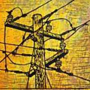 Power Lines Print by William Cauthern