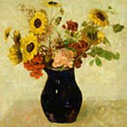 Vase Of Flowers Print by Odilon Redon