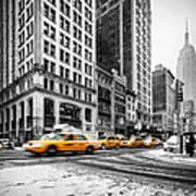 5th Avenue Yellow Cab Print by John Farnan
