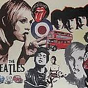 60's Montage Print by Cherise Foster