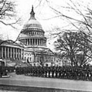 63rd Infantry Ready In Dc Print by Underwood Archives