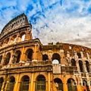The Majestic Coliseum - Rome Print by Luciano Mortula