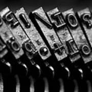 Typewriter Keys Print by Falko Follert
